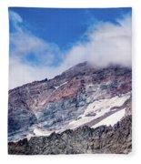 Mount Rainier Closeup Fleece Blanket