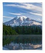Mount Rainier Reflections Fleece Blanket