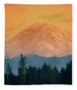 Mount Rainier, Sunset Fleece Blanket