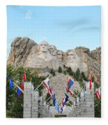 Mount Rushmore Entrance  8713 Fleece Blanket