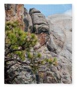 Mount Rushmore George Washington Landscape Fleece Blanket