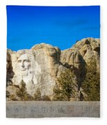 Mount Rushmore National Memorial Fleece Blanket