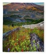 Mount Saint Helens Fleece Blanket