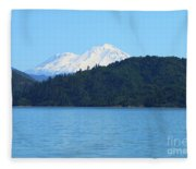 Mount Shasta And Shasta Lake Fleece Blanket