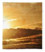 Mount Shasta Sunrise Fleece Blanket