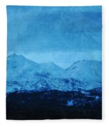 Mount Shasta Twilight Fleece Blanket