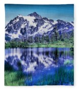 Mount Shuksan And Picture Lake Fleece Blanket