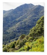 Mount Tamalpais From Blithedale Ridge Fleece Blanket