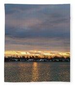 Mount Trashmore Sunrise 2 Fleece Blanket