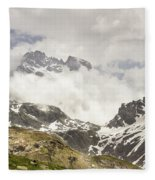 Mount Viso In The Clouds Fleece Blanket