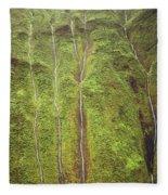 Mount Waialeale Fleece Blanket
