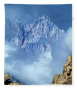 Mount Whitney Clearing Storm Eastern Sierras California Fleece Blanket
