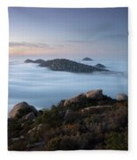Mount Woodson Above Clouds Fleece Blanket