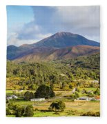 Mount Zeehan Valley Town. West Tasmania Australia Fleece Blanket