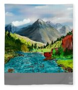 Mountaian Scene Fleece Blanket