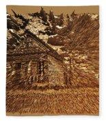 Mountain Cabin  Fleece Blanket