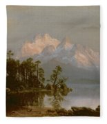 Mountain Canoeing Fleece Blanket