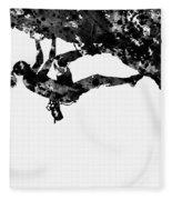 Mountain Climber-black Fleece Blanket