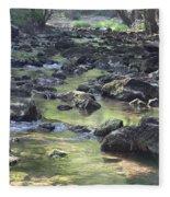 Mountain Creek Nature Spring Scene Fleece Blanket