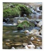 Mountain Creek Spring Nature Scene Fleece Blanket