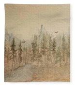 Mountain Evergreens Fleece Blanket