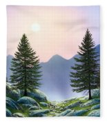 Mountain Firs Fleece Blanket