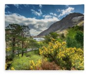 Mountain Flora Fleece Blanket