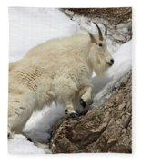 Mountain Goat With Grace Fleece Blanket