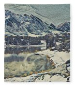 Mountain Lake, California Fleece Blanket