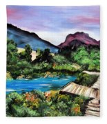Mountain Lake Fleece Blanket