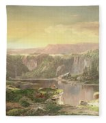Mountain Lake Near Piedmont Fleece Blanket