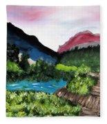 Mountain Lake Walk Fleece Blanket