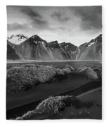 Icelandic Mountain  Landscape Fleece Blanket