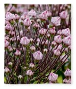 Mountain Laurel Bush Fleece Blanket