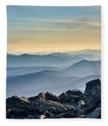 Mountain Layers Fleece Blanket