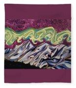 Mountain Lights Fleece Blanket
