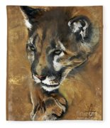 Mountain Lion - Guardian Of The North Fleece Blanket