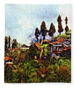 Mountain Living Impasto Fleece Blanket