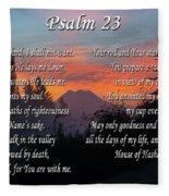Mountain Morning Prayer Fleece Blanket