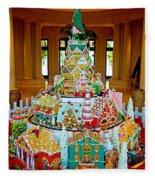 Mountain Of Christmas Cheer Fleece Blanket
