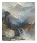 Mountain Of The Holy Cross Fleece Blanket