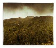 Mountain Of Trees Fleece Blanket