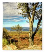 Mountain Overlook At High Point New Jersey Fleece Blanket