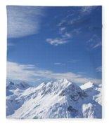 Mountain Panorama Lech Near St Saint Anton Am Arlberg Austria Fleece Blanket