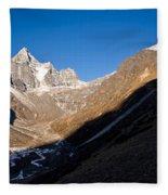 Mountain Peak, Kumuche Himal Fleece Blanket