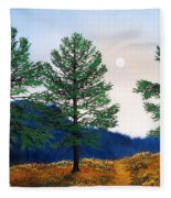 Mountain Pines Fleece Blanket