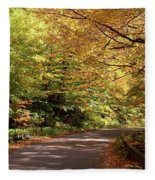 Mountain Road Stowe Vt Fleece Blanket
