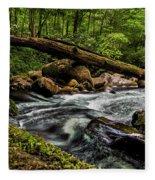 Mountain Stream Iv Fleece Blanket