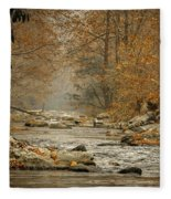 Mountain Stream With Tree Overhang #1 Fleece Blanket