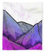 Mountain Texture Fleece Blanket